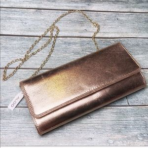 NWT ALDO Gold Clutch